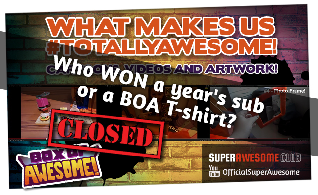 AWESOME winners announced!! Who gets a year's sub to BOA or a BOA T-shirt?!