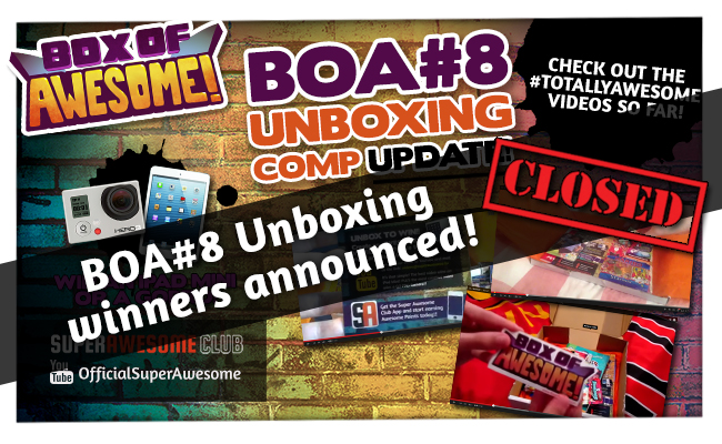 Who wins an iPad Mini or a GoPro in the BOA#8 Unboxing Competition?!