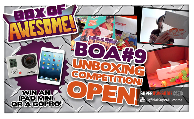 The BOA#9 Unboxing Action begins!! Could YOU win an iPad Mini or GoPro? EXTENDED