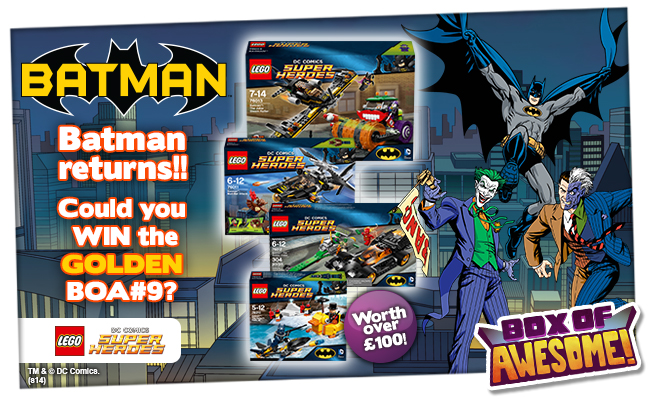 Could you WIN the Golden Box of Awesome#9?! Loads of LEGO Batman gear!