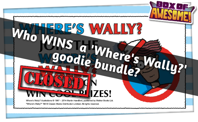 Wally FOUND! Who has WON a #TotallyAwesome 'Where's Wally?' goodie bundle?